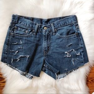Levi's Shorts - Levi's 514 Distressed & Destroyed Frayed Shorts